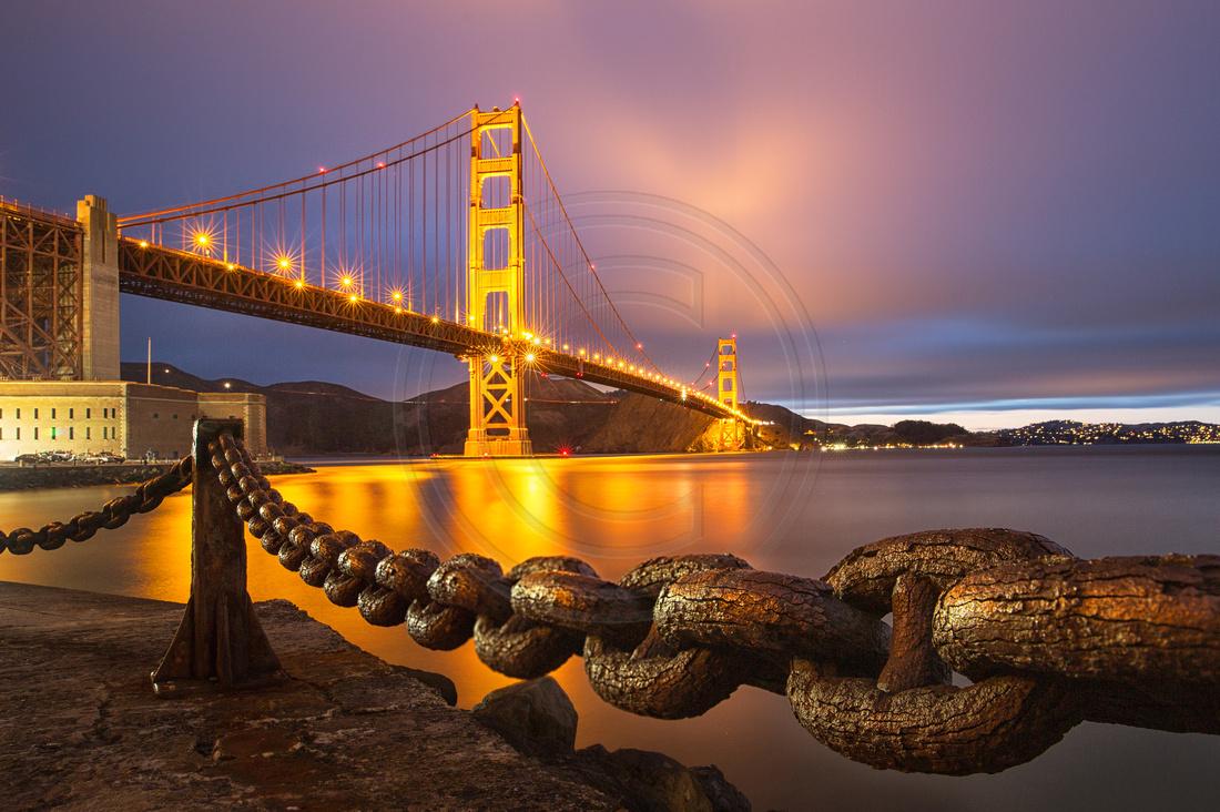 Caged Gate: Golden Gate Bridge, San Francisco