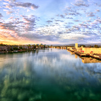 Foster City, California: Dawn at Lagoon