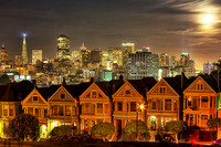 Moonlit Painted Ladies: San Francisco