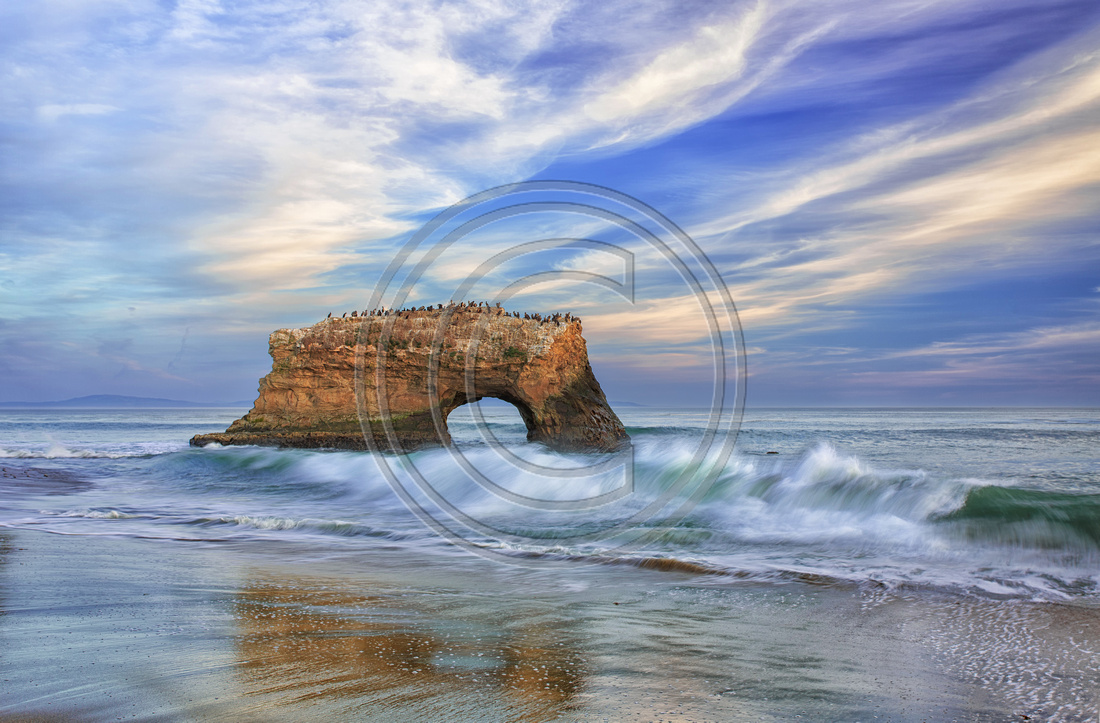 Natural Bridges Rock: Natural Bridges State Park, Santa Cruz, Ca